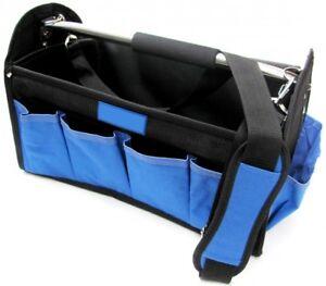 werkzeugtasche mit 12 f chern werkzeugkoffer werkzeugkiste installateur tasche ebay. Black Bedroom Furniture Sets. Home Design Ideas