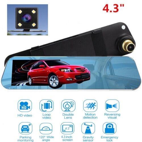 Espejo retrovisor coche DVR Cámara Grabadora Cámara en Tablero Sensor G Visión nocturna nuevo