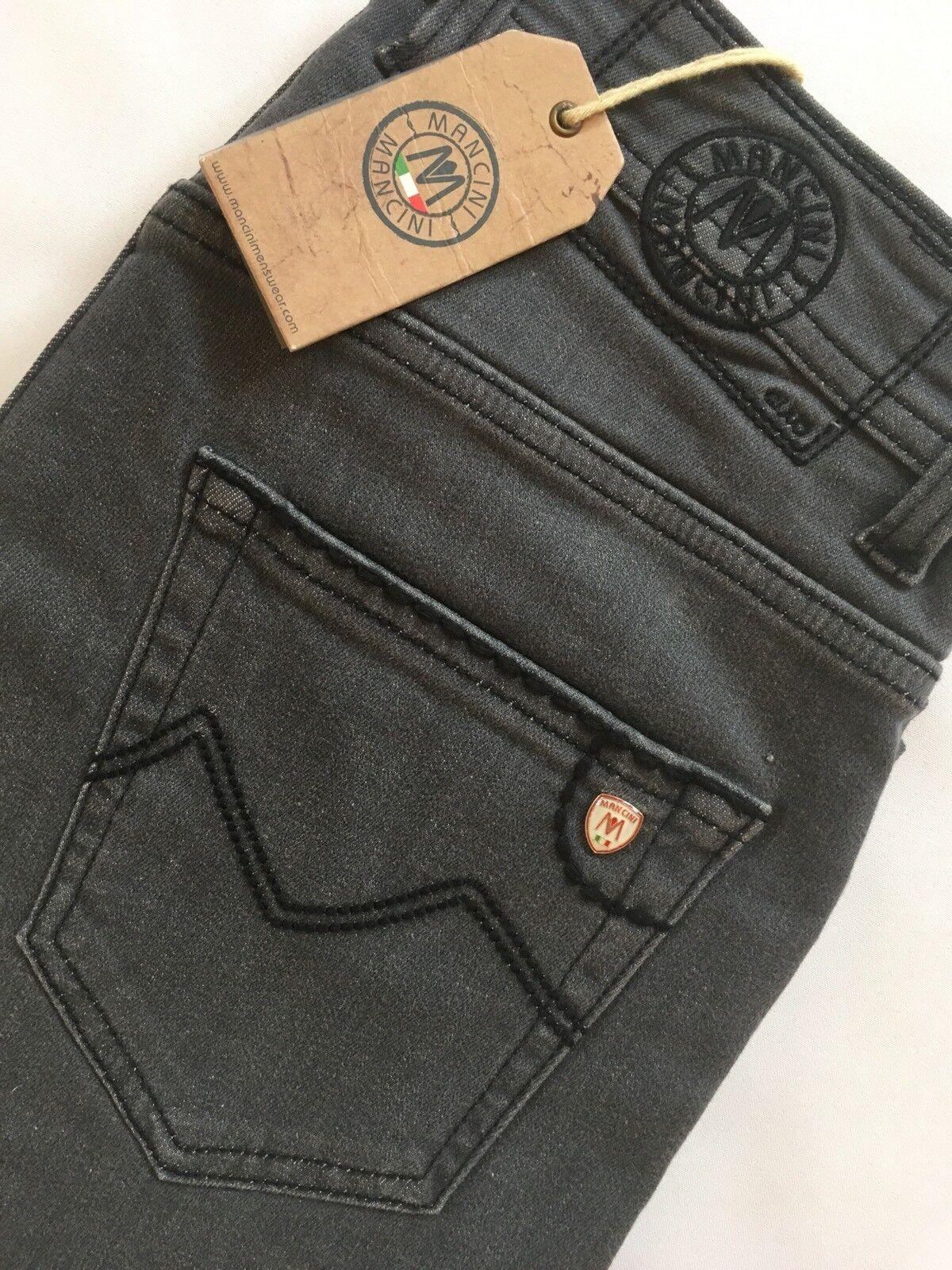 "Mancini Norman Dark Grey Jeans 42  waist 36"" leg Slim Fit RRP"
