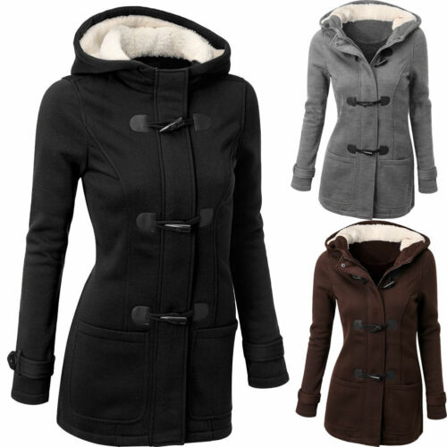 lana cappuccio Cappotto cappotto con cappotto da in con cappuccio donna in camoscio qY81f