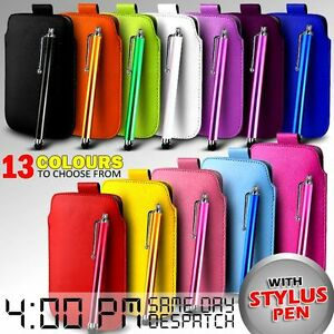 LEATHER-PULL-TAB-SKIN-CASE-COVER-POUCH-amp-STYLUS-FITS-VARIOUS-LG-MOBILES