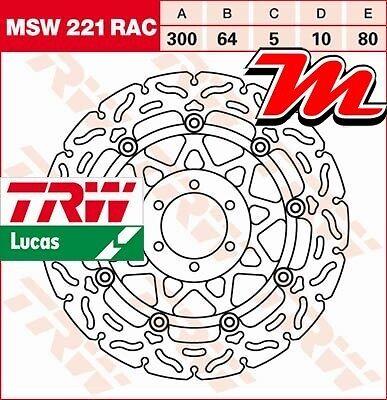 Disque de frein Avant TRW Lucas MSW 221 RAC pour Yamaha FZS 600 Fazer RJ02 98-03