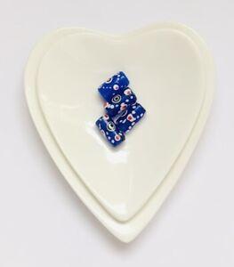 Sale Stunning Cobalt Blue Cylinder Murano Glass Handmade Bead  4 Pcs