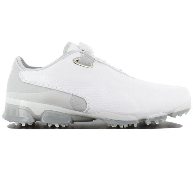 490f2794e6c9 Puma Titanium Tour Ignite Premium Disc Tt Men s Golf Shoes Leather White