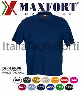 TAGLIE-FORTI-UOMO-MAXFORT-5000-POLO-MANICA-CORTA-MAGLIA-MEZZA-MANICA-T-SHIRT