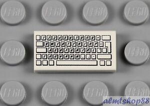 LEGO computer keyboard tile for minifigures
