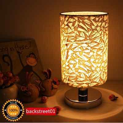 Modern Pastoral Cloth Small Style Table Lamp LED Desk Light Kid's Bedroom Bedsid