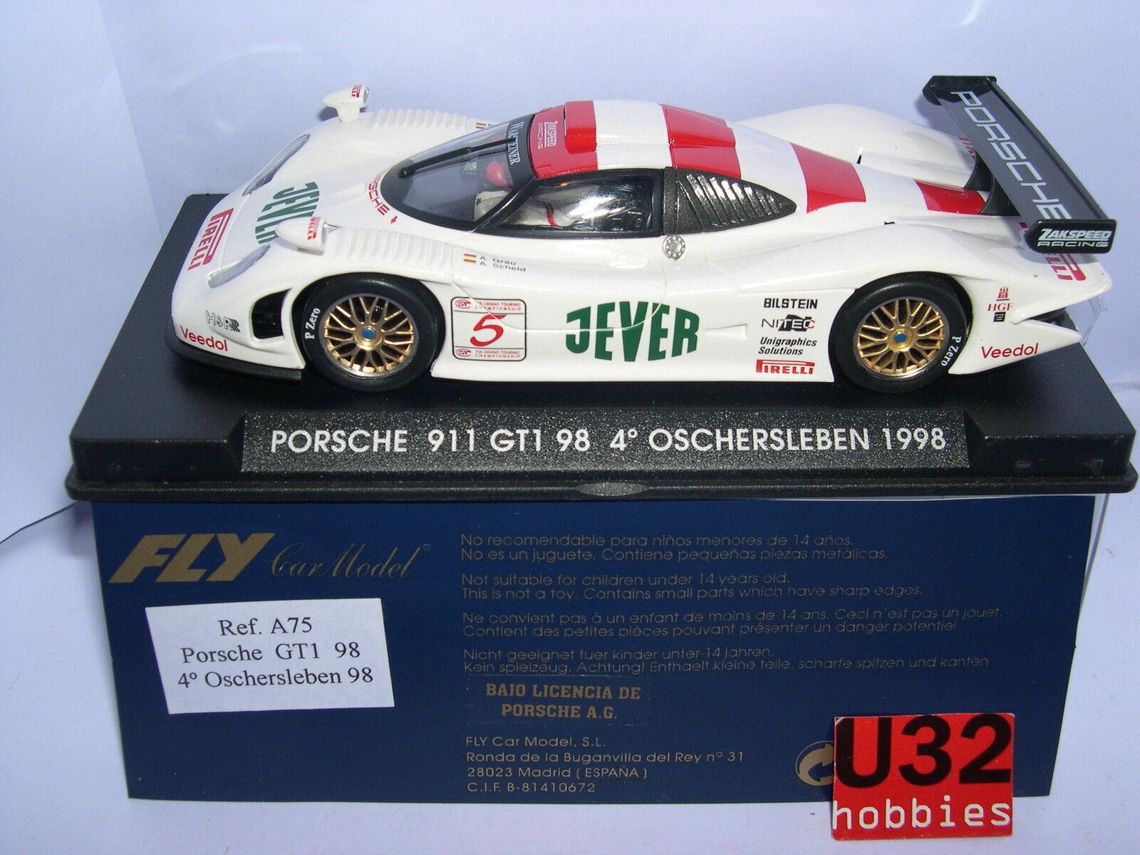 FLY A-75 PORSCHE 911 GT1 98 ° OSCHERSLEBEN 1998 JEVER A.grey A. SCHELD MB