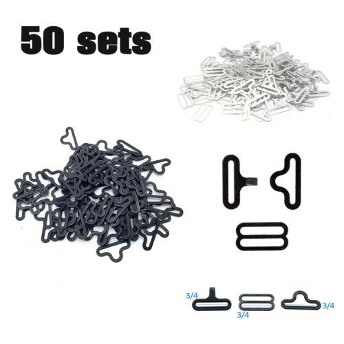 50 Ensembles réglable métal nœud papillon matériel Cravate Clip Crochet Attache