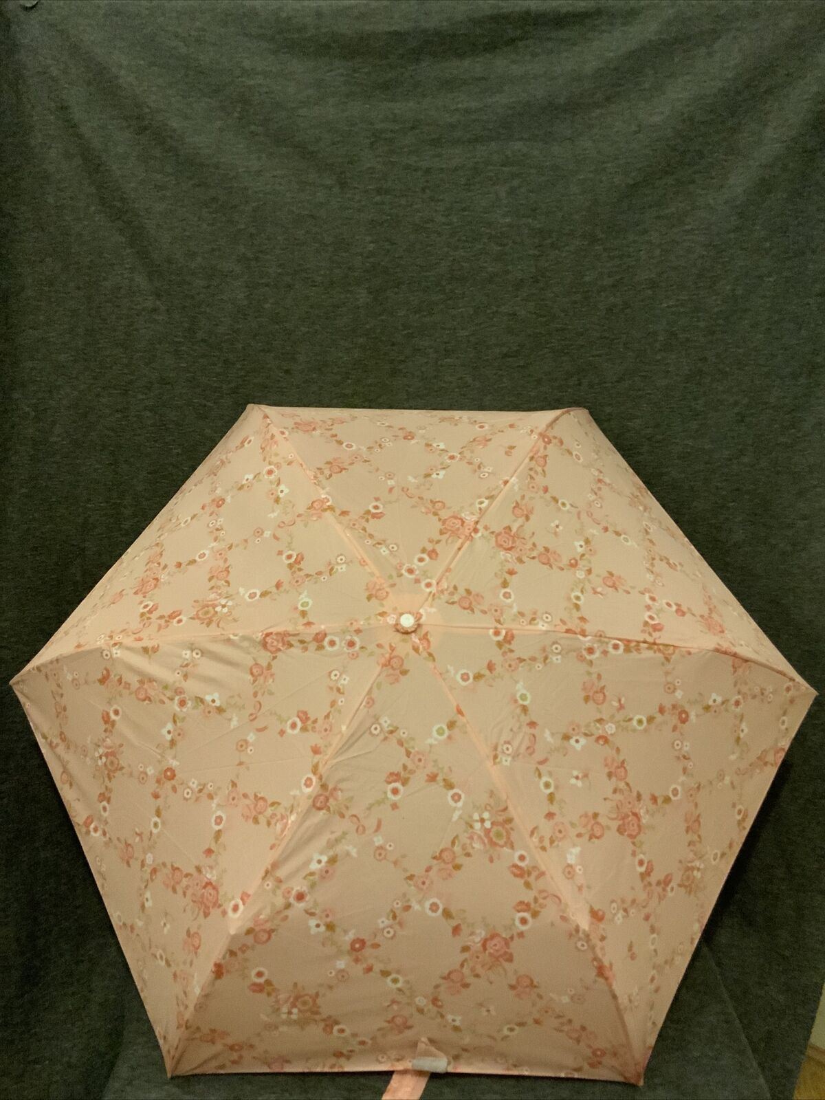 Umbrella Original Japanese Pink Flowers Compact Folding Brand New With Tags