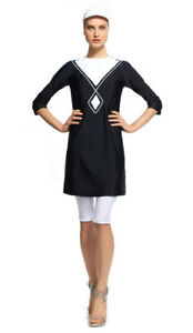 b1766a125decb1 MODEST SEA Daniella Black & White 2-Pc Swimsuit Burkini 11014 $177 ...