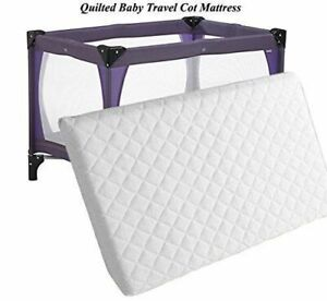timeless design 0c4a8 6415a Details about Thick Baby Travel Cot Mattress 100 x 70cm To fit Mother care  / Argos Bed