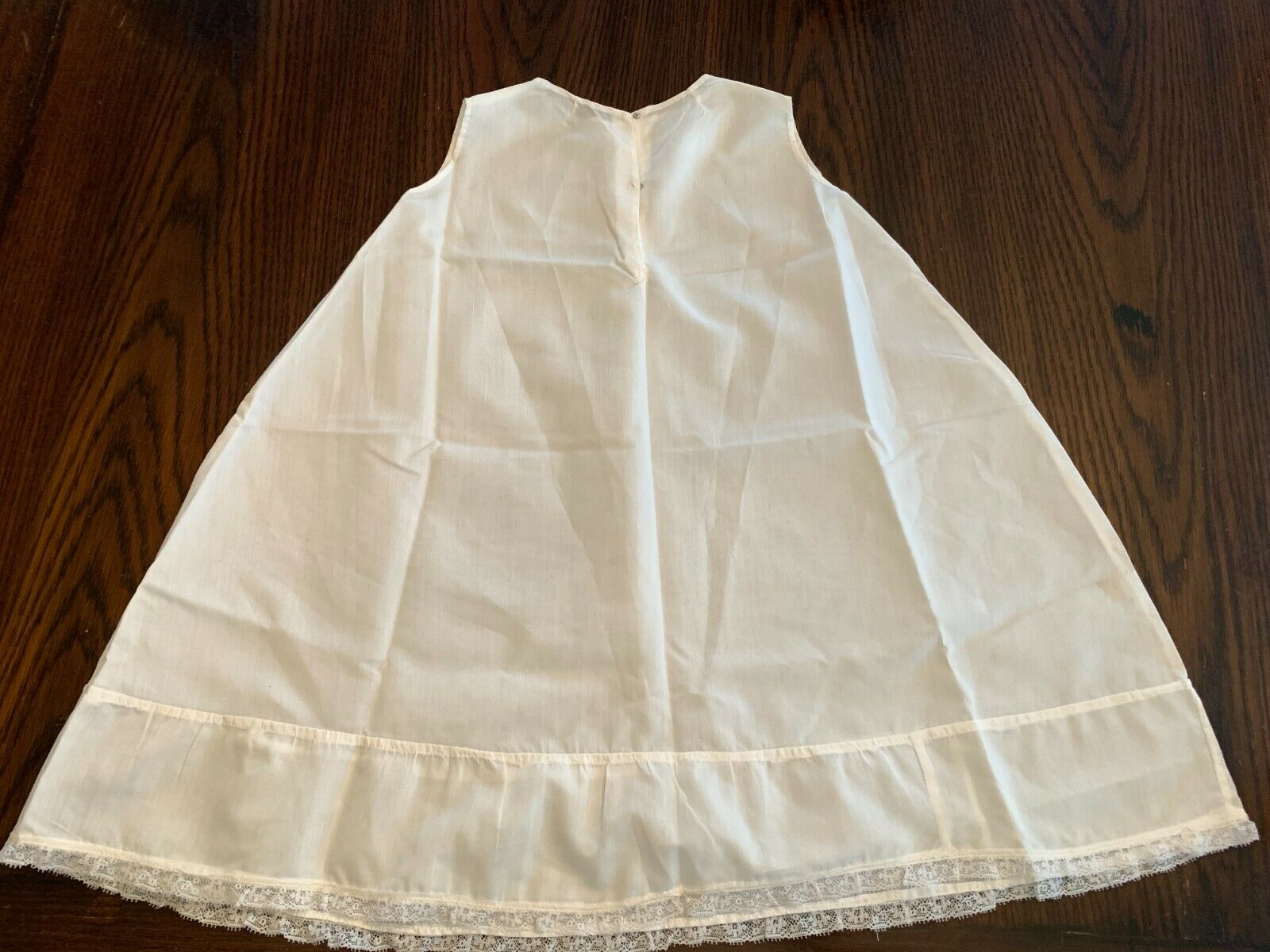 Vintage White Cotton Baby gown slip underdress sl… - image 7
