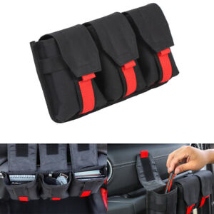 Fits 2020 Jeep Gladiator Accessories Black Dashboard Co-pilot Handle Storage Bag
