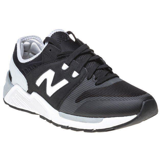 New Mens New Balance Black 009 Nylon Trainers Retro Lace Up
