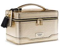 Victoria's Secret Hard Train Case Makeup Bag In Lizard Gold - Lmtd Edition