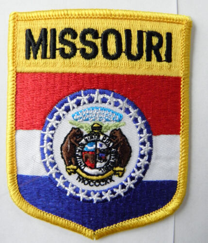 MISSOURI STATE SHIELD SEW ON OR IRON ON PATCH 3 INCHES