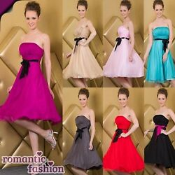 ♥9 Farben Größe 34-54 Abendkleid, Cocktailkleid, Ballkleid aus seidigem Chiffon♥