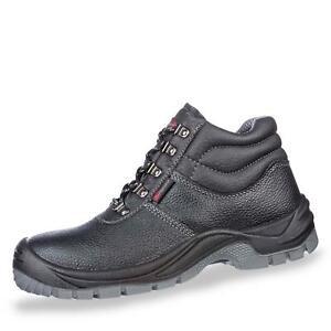 Footguard Herren Sicherheitsschuh Halbschuhe Schnürschuhe Leder Schuhe schwarz