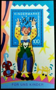 Germany-Clown-For-Our-Children-1993-Guitar-Sing-Song-miniature-sheet-MNH