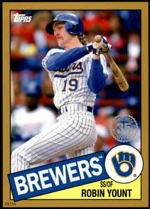 Robin-Yount-2020-Topps-1985-35th-Anniversary-5x7-Gold-85-61-10-Brewers