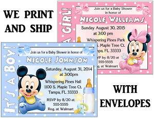 Disney baby mickey mouse baby minnie mouse baby shower invitations image is loading disney baby mickey mouse baby minnie mouse baby filmwisefo