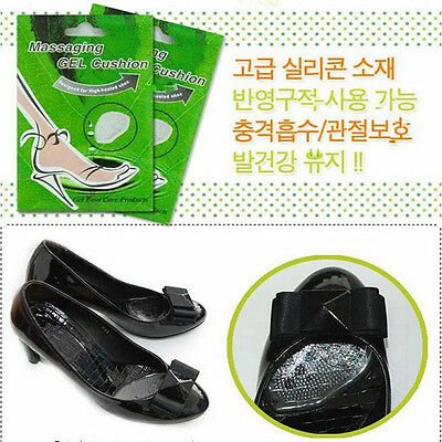 New Transparent Gel Silicone Foot Half Sole Shoes Liner Care Cushion Pad Insole