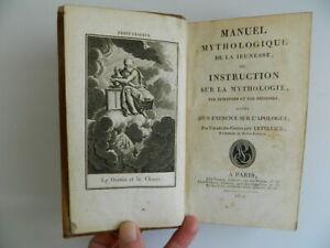 Charles-Constant Letellier Manuel Mitológica de La Juvenil Rezar Belin 1812