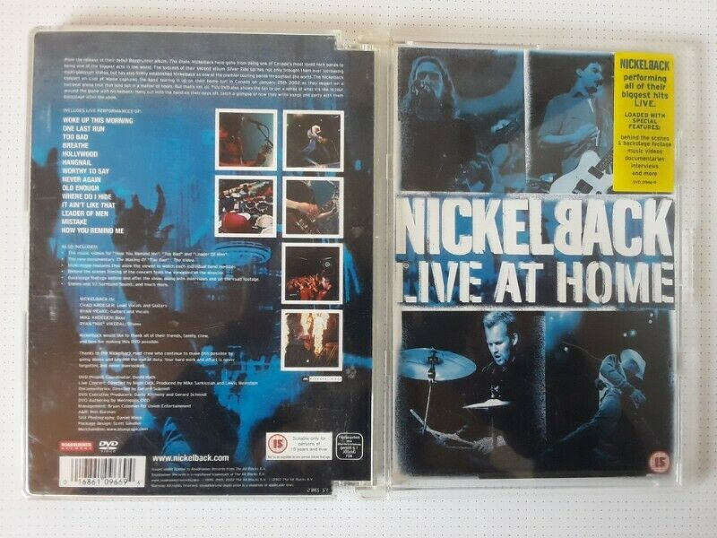 Music DVD: Nickelback.Live at Home. R80.I am in Orange Grove.