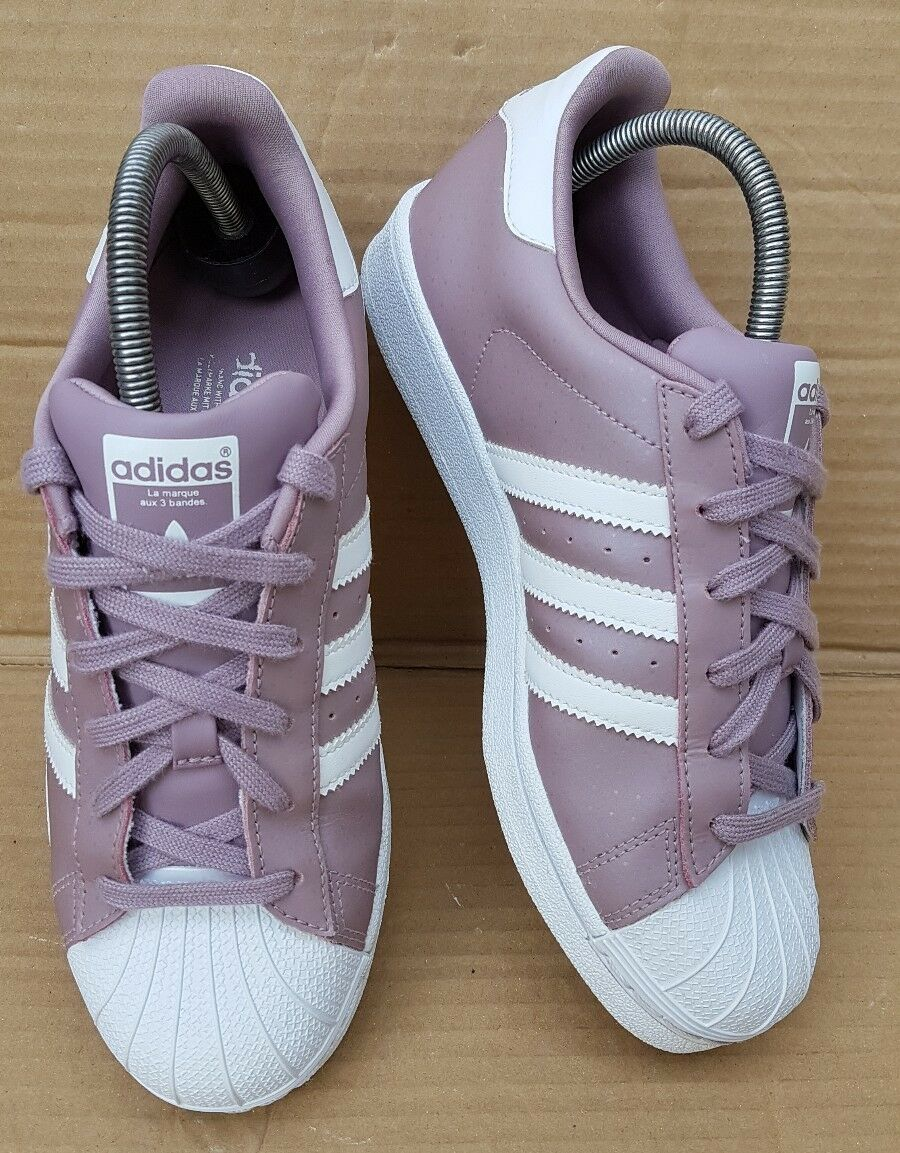 ADIDAS SUPERSTAR WHITE whiteHE whiteHE whiteHE PURPLE POLKA DOT TRAINERS SIZE 5 UK EXCELLENT 2dd992