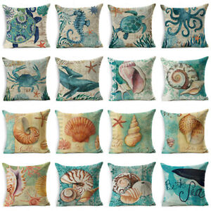 18-034-Retro-Sea-Animal-Cotton-Linen-Pillow-Case-Sofa-Cushion-Cover-Throw-Home-Decor