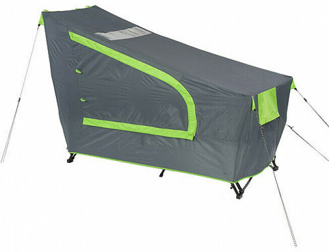 Camping Tent 1-Person Instant Cot With Rainfly Collapsible Portable Steel Frame