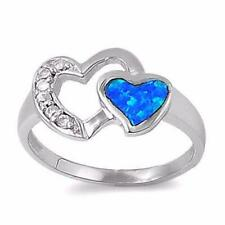 Tova Ice on Fire CZ Twin Heart Sterling Silver Promise Ring