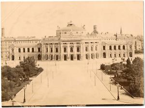 Autriche-Osterreich-Vienne-Wien-Neues-Burgtheater-Vintage-albumen-print