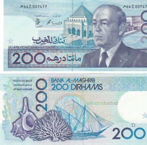 Morocco 200 Dırhams 1987 UNC