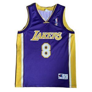 Champion Vintage NBA Los Angeles LA Lakers Jersey #8 Kobe BRYANT Purple Shirt M