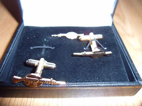 lapelpin set-Falklands British Army SLR Rifle cufflink