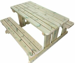 FT Heavy Duty Walk In Style Picnic Table Pub Bench Very - Walk in picnic table