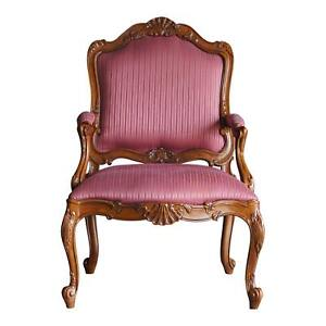 Image Is Loading Chair French Accent Bergere Carved