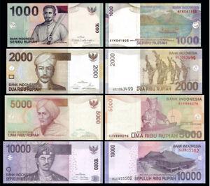 INDONESIA-SET-4-PCS-1000-2000-5000-10000-RUPIAH-2009-2016-UNC