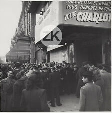LA RUEE VERS L'OR Chaplin CHARLOT Cinéma FACADE Paris SEEBERGER Photo 1940s