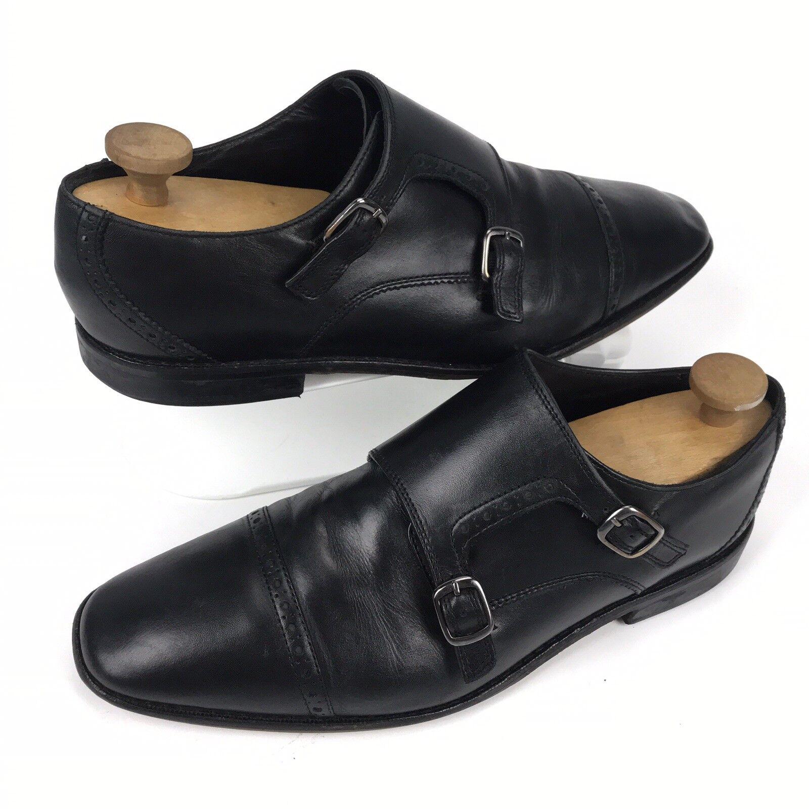 Homme Florsheim Castellano Monk Strap Cap Toe en cuir noir   Chaussures Sz 11 d