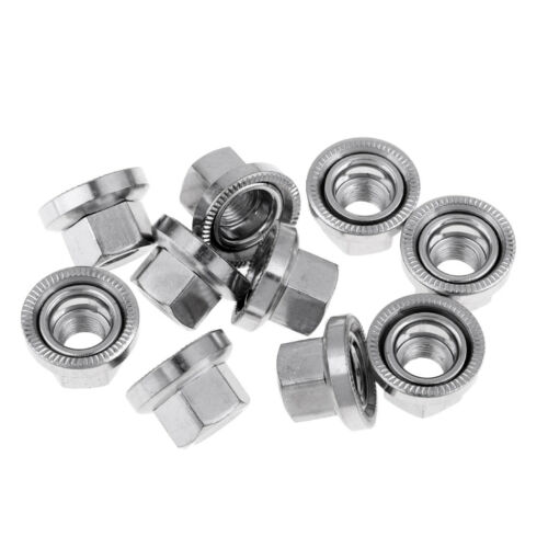 Details about  /10Pcs M10 Bike Wheel Hub Axle Nuts Aluminum Bicycle Skewer Bolt Screw Nuts