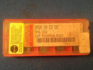 Qty Sandvik SPGN 09 03 08 Grade 1025 Coated Carbide Turning Insert SPG 322 10