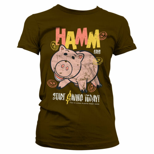 HAMM Women/'s T-Shirt S-XXL Sizes Officially Licensed Toy Story