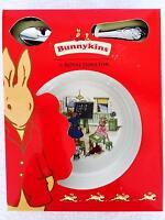 Royal Doulton Bunnykins Baby Nursery 2 Pc Set Plate Bowl & Feeding Spoon Abc