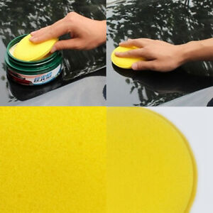 12x-Car-Waxing-Polish-Wax-Foam-Sponge-Cleaning-Detailing-Pads-Applicator-Yellow
