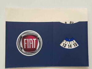 Porta-Assicurazione-FIAT-per-Auto-Camion-Con-Disco-Orario-Colore-Blu-1-Una-Tasca