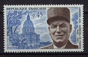 FRANCIA-FRANCE-1970-MNH-SC-1266-Marshal-A-Pierre-Juin
