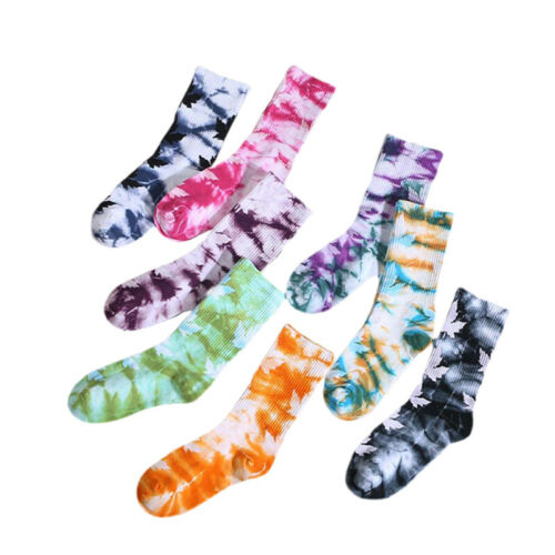 Cotton Skate Socks Men Women Sock Knee-high Cycling Running Hiking Tie Dye s D/_N